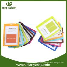 Fabrik benutzerdefinierte hart und einfach zu bunten ID-Kartenhalter zu nehmen