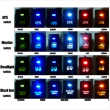 Toyota Push Switch Zumbi Luzes Símbolo - Branco / Azul / Laranja / Verde / Vermelho LED