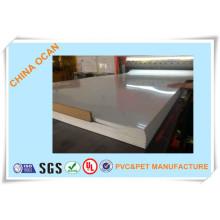 Folha de PVC transparente para material de impressão