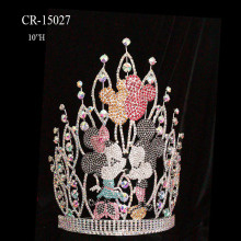 "10"" Big Ab Rhinestone Pageant Crown For Sale"