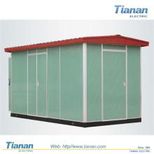 Subestación de transformador integrado / de alimentación / suministro, subestación combinada, subestación compacta para exteriores