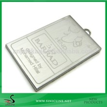 Sinicline Laser Logo Metal Tag Accessory for Bag