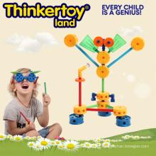 Plástico educativo bricolagem brinquedo quebra-cabeça blocos
