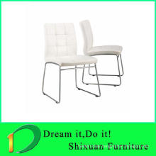 Metal frame leather seat living room chair