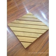 Revestimento de banheiro de madeira teca impermeável