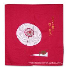 Custom Made vermelho impresso japonês tradicional estilo algodão porta tela