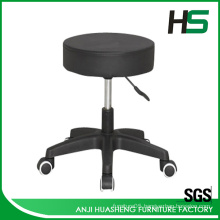 Adjustable and swivel removable barber stool with leather