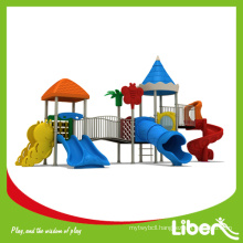 LLDPE Galvanized Steel Custom Design Outdoor Preschool Equipment with Tube Slides