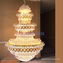 Large crystal pendant light gold crystal chandelier light fixtures 63038