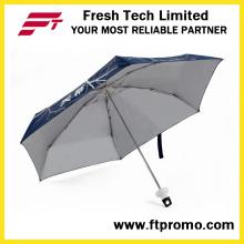 Garrafa forma aberta manual 5-seção dobrável guarda-chuva
