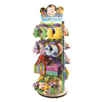 Custom Flooring Metall Spinner Werbung Baby Shop Hanging Plüsch Spielzeug Display Stand zum Verkauf