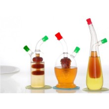 Grape-Shaped Oil & Vinegar Bottle and Glass Designer Oil Bottles, Glass Cruet