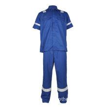 fire retardant cotton work coveralls short sleeve
