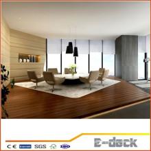 Indoor WPC piso de plástico de madeira composto / impermeável antiderrapante WPC decking indoor