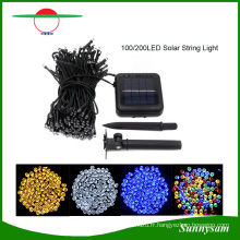Lumière solaire de ficelle de lumières de Noël solaire de 200 LED pour la décoration à la maison de jardin