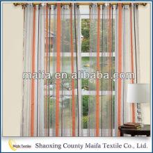 Factory Meilleur prix Fantaisie 100% polyester strié tissu transparent pour rideau de fenêtre,
