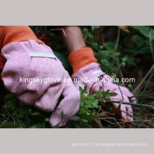 Algodão Jardim luva Pontos de PVC na palma da mão