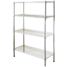Professional customized Adjustable Epoxy Wire Shelves chromed wire shelf rack Sturdy Metal Wire shelf
