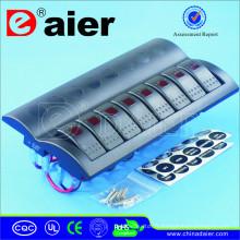 Panneau de disjoncteur avec 8 interrupteurs à bascule