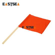 Drapeau de tissu de PVC de main de contrôle de sécurité allumé en gros par Alibaba orange
