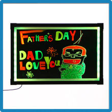 60*80 super thin aluminium alloy acrylic transparent led writing board advertising board