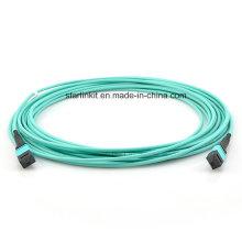 5m 10g Om4 50/125 Multimodo MPO / MTP cabo de fibra óptica tronco