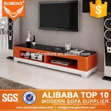 industrial living room furniture modern design orange white tv stand