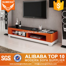 промышленные гостиная мебель современный дизайн оранжевый белый телевизор стенд