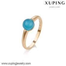 14739 Xuping nuevo diseño de moda chapado en oro mujer anillos con piedras preciosas de color rojo