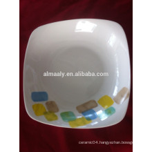 Square plate for fruit, food, soup