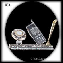 K9 Crystal Office con reloj dorado