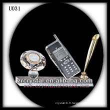 K9 Crystal Office avec horloge en or