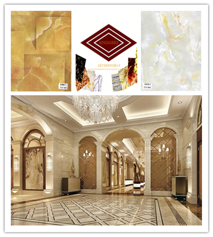 Fireproof imitated Marble PVC tường bảng