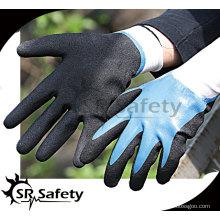 15G трикотажные нейлоновые рабочие перчатки с песчаным покрытием / защитные нитриловые перчатки / маслостойкая рабочая перчатка