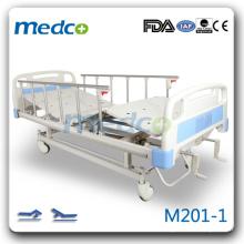 M201-1 Deux manivelles main contrôle antiquaire lit avec roulettes
