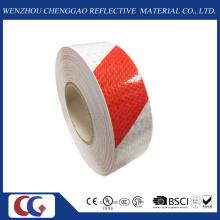 Cinta de advertencia reflexiva del diseño de la raya de los colores dobles rojos / blancos (C3500-S)