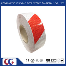 Red/White Double Colors Stripe Design Reflective Warning Tape (C3500-S)