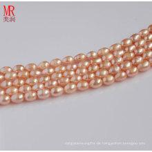 5-6mm rosa natürlichen Reisform Pearl Strand