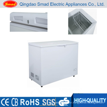 Commercial or home use solar powered solid door deep freezer