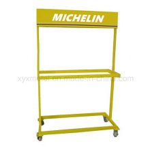 Roll Tire Metal Advertising Stand Tire Show Rack