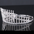 Прозрачный камень Корона горный хрусталь Tiara Crystal девочек короны