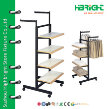 4 tiers garment display rack with wheels