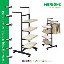 4-х уровневая стойка для одежды с колесами