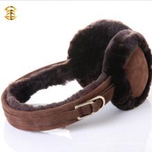 Piel de peluche suave invierno Invierno cálido almohadilla almohadillas tapa orejeras