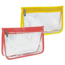 EVA Cosmetic Bag with Colored Piping