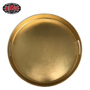 Gold Round Plastic Tray