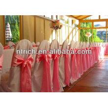 Faixa de cetim cadeira do casamento cadeira decoração