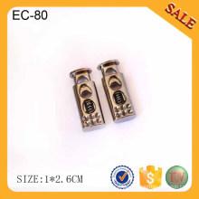 EC64 KAM Metallschnurende für Beutel zum Einstellen / kundenspezifischer antiker Messingmetallschnurschnurstopper für Beutel