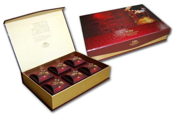 Red Gift Tea Packaging Boxes Partihandel