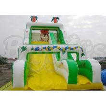 0.55MM PVC Huge Tiger Kids Inflatable Slides For Playground